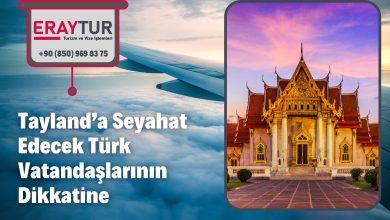Tayland'a Seyahat Edecek Türk Vatandaşlarının Dikkatine