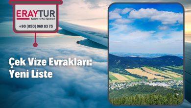 Çek Vize Evrakları: Yeni Liste [2021]