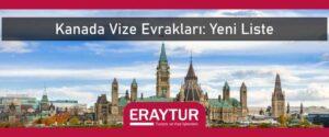 Kanada vize evrakları yeni liste