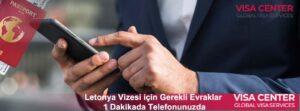 Letonya vizesi başvuru merkezleri