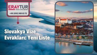 Slovakya Vize Evrakları: Yeni Liste [2021]