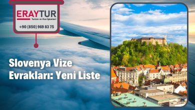 Slovenya Vize Evrakları: Yeni Liste [2021]